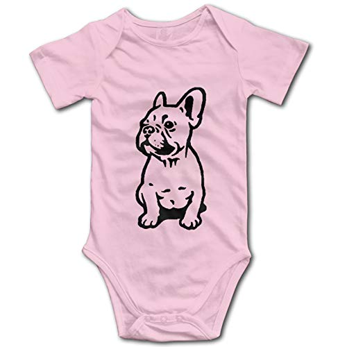 Twicool Cute French Bulldog Baby Boys Girls Onesies Cute Infant Bodysuit Romper Pajamas Pink