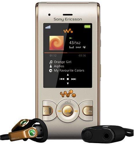 Sony Ericsson W595 Handy (Bluetooth, 3.2MP, 2GB Memory Stick, Walkman, UKW-Radio) Sandy Gold