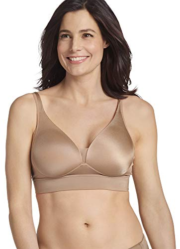 Jockey Women's Bras Forever Fit V-Neck Molded Cup Bra, Almond, L