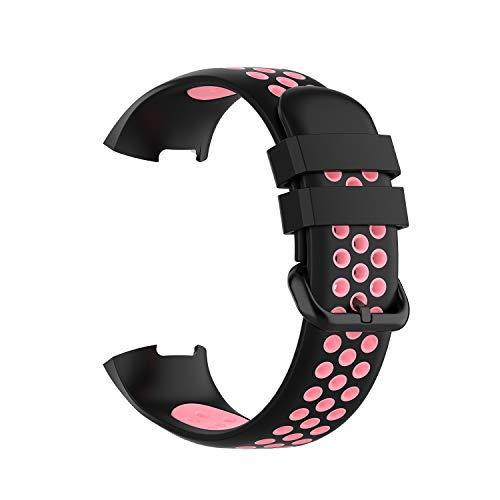 AISPORTS Paquete de 5 correas de silicona compatibles con Fitbit Charge 3 para mujeres y hombres, correa de repuesto para Fitbit Charge 4/Charge 3 Fitness Tracker