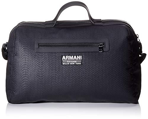 Armani Exchange Herren Logo Work In Progress Henkeltasche, Schwarz (Black), 10x10x10 cm