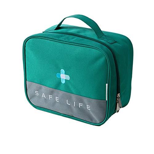 Botiquín de primeros auxilios, caja de almacenamiento de medicamentos con asa para coche, viaje, casa, lugar de trabajo, impermeable, fácil de llevar, caja de almacenamiento de medicamentos
