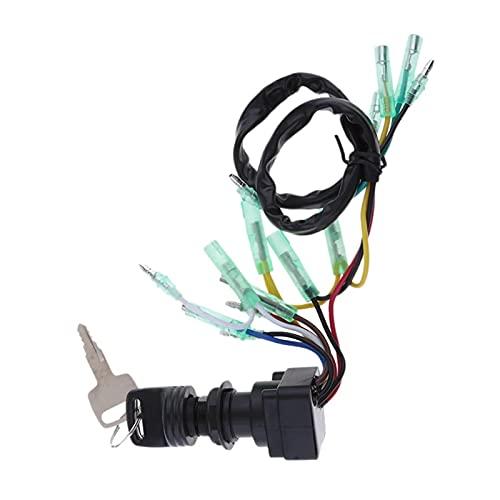 Huajin CANSCHO DE Interruptor DE IGNICIÓN Ajuste para Ajuste para EL Caja DE Control DE Motor DE Fuera DE Yamaha 703-82510-43-00 (Color : Black)