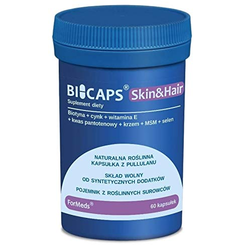 Hair and Nails Biotin, zinc, Vitamin E, pantothenic Acid, Silicon MSM Selen Skin & Hair 60 portions 60 Capsules ForMeds