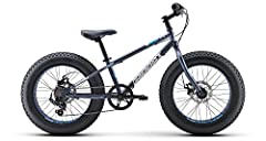 "Hi-ten steel frame and fork for durability Diamondback Jr Fat 20"" wheels with 4.0"" wide tires Shimano 7-speed drivetrain w/grip shifter Disc brakes with 160mm rotors Rims: 32h Jr Fatty Alloy"