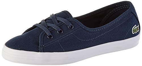 Lacoste Womens Ziane Chunky BL 2 CFA Sneaker, Blau (Navy/White), 36 EU