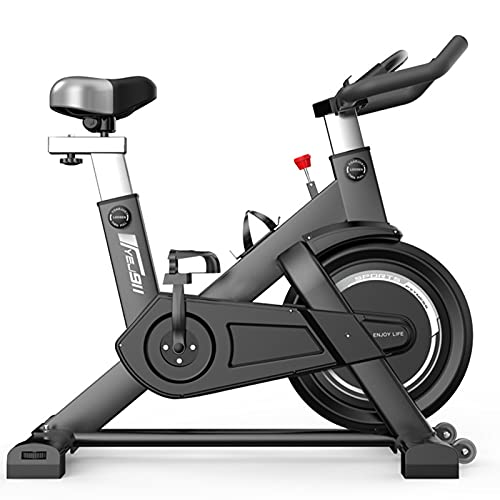 Spinning Bike Bicicleta Estática Para Casa, Bicicleta De Ciclismo Estacionaria Para Interiores Con Asiento Y Asas Ajustables, Bicicleta Giratoria Con Soporte Para Teléfono Móvil Y Soporte Para Botella
