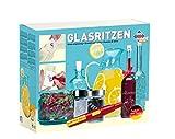 Vielfältiges Bastelset Glasritzen mit batteriebetriebenem Gravierstift, Glasschreibestift, keramischem und diamantisiertem Schleifstift, inklusive 2 Gläser
