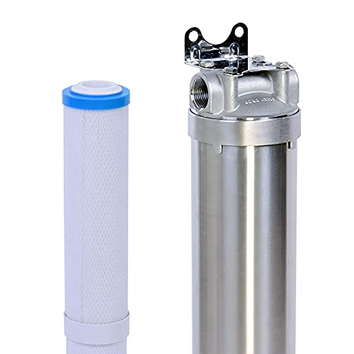 Hansing Salt Free Water Softener & Resisting Clogging Whole House Water Filter System, Prevent Scale Build Up for Under 23gpg of Water, Filters Chlorine & Sediment Filtration for 1-3 Baths, 12 GPM