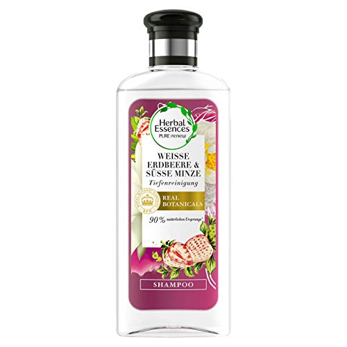 Herbal Essences PURE:Renew fraise blanche, Après-shampoing, nettoyage en profondeur