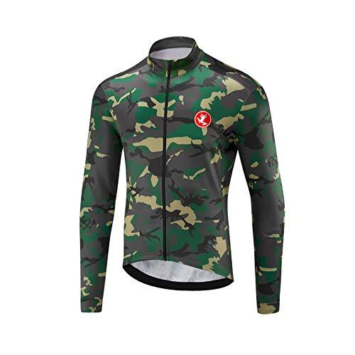 UGLY FROG Herren Jacke/Trikots Winddichte wasserdichte Lauf- Fahrradjacke MTB Mountainbike Jacket Visible Reflektierend, Fleece Warm Jacket für Winter Voller Reißverschluss