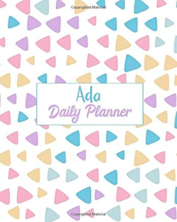 Ada Daily Planner: 100 Sheet 8x10 inches for Diary, Planners, Notes, for Girls, Woman, Children and Initial name on Matte Pastel Design Cover , Ada Daily Planner