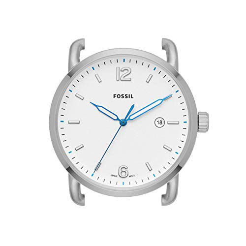 Fossil The Commuter - Caja de Reloj de Acero Inoxidable con Tres manec