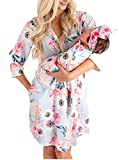Maternity Robe and Matching Baby Set (Dusty Pink, Large)