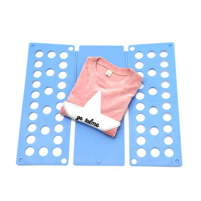 Doblador de ropa infantil, Doblador de camisetas, Placa ayuda para plegar la ropa, Tabla para doblar ropa, 48x40x1 cm.