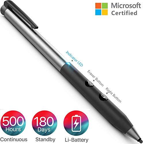 Surface Pen, Uso Continuo 500 horas y 180 Días en Espera Surface Stylus con Capacidad Activa 1024 y Lápiz para Surface Go/ Pro 3 / Pro 4 / Pro 6/ laptop / Book Serie /Studio