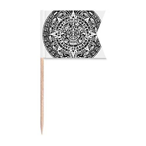 """Beauty Gift Antikes Ã""""gypten Abstraktes Muster Silhouette Markierung für die Kennzeichnung von Zahnstocher-Flaggen"""