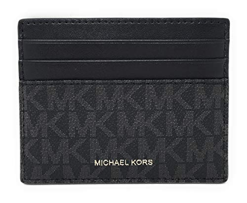 Michael Kors Men's Cooper Tall Card Case Wallet (Black)