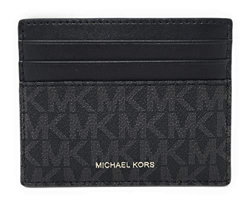 Michael Kors Cooper Tall Card Case Wallet (Black)