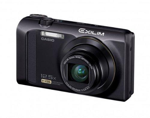 Casio Exilim EX-ZR300 Digitalkamera (16,1 Megapixel, 7,6 cm (3 Zoll) Display, 25-Fach Multi SR Zoom, 24mm Weitwinkel, HS-Nachtaufnahme, HDR) schwarz