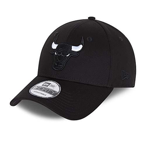 New Era Chicago Bulls 9forty Snapback Cap Verstellbar Kappe Black Base Schwarz - One-Size