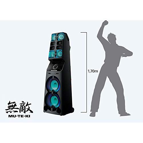 Mini System MUTEKI Sony MHC V90DW tipo torre com 10 alto falantes e pressão sonora imbatível   MHC-V90DW//MBR1