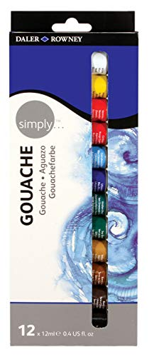Daler Rowney - 126600912 - Kit De Loisirs Créatifs - Ensemble Gouache Simply - 12X12 Ml