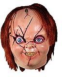 Loftus International Bride of Chucky Version 2 Chucky Full Head Mask, Beige Red, One-Size Novelty Item