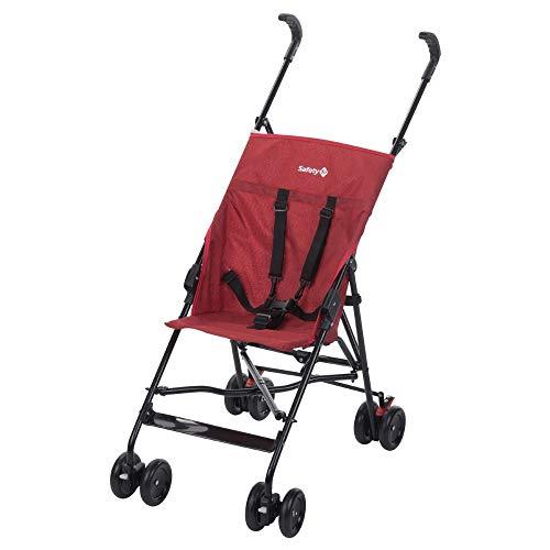 Safety 1st Peps Buggy, wendiger Kinderwagen nutzbar ab 6 Monate bis max. 15 kg, kompakt zusammenfaltbar, mit Feststellbremse und 5-Punkt-Gurt, Leichtgewicht mit nur 4,5 kg, ribbon red chic
