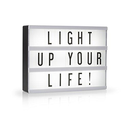 Smartwares LED Lightbox A5 - Lichtbox / Retro Kino-Leuchtkasten mit 85 verschiedenen schwarzen Zeichen, IOL-002-BW