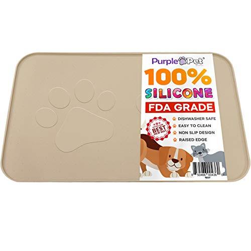 Extra Large Pet Feeding Bowl Mat with Logo - Food...