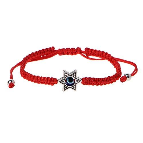 Evil Eye Bracelet Slide Pull Cinch Hamsa Hand God Blessed Jewelry GOLD PINK