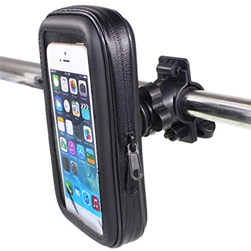 Umiusiyun - Funda para bicicleta (impermeable, resistente al agua, con marco de ciclismo, transparente táctil, rotación de 360 grados), tamaño 4.7inch