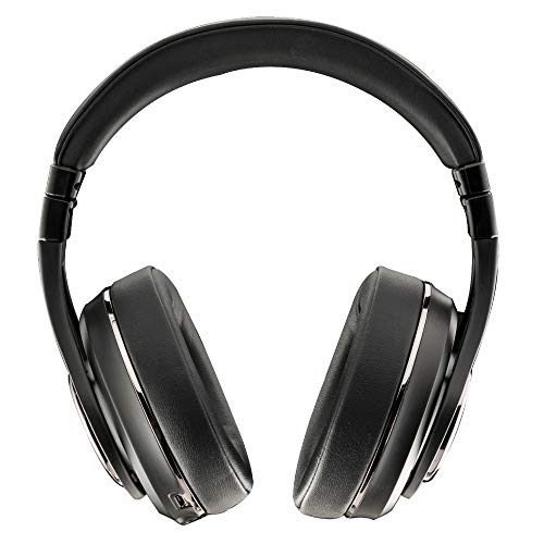 Kicker CushNC Bluetooth Headphones Over Ear Headphones with Microphone, Active Noise Cancelling, Soft Comfort Padding