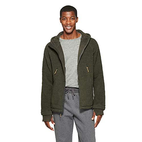 Champion C9 Men's Sherpa Lined Fleece Jacket - Variety - (Bottle Green, Small)