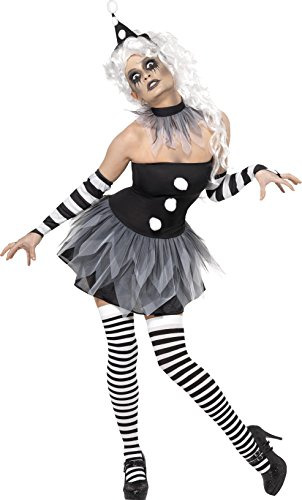 Smiffy's 34226L Böser-Pierrot-Kostüm, L, schwarz