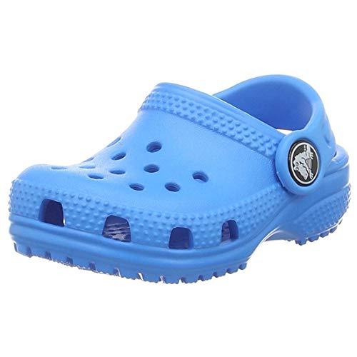Crocs Classic Clog Kids Roomy fit Zuecos Unisex niños, Azul (Ocean 456), 22/23 EU