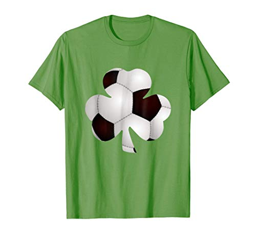 Funny St. Patrick's Day Soccer Ball Shamrock Soccer Fans T-Shirt