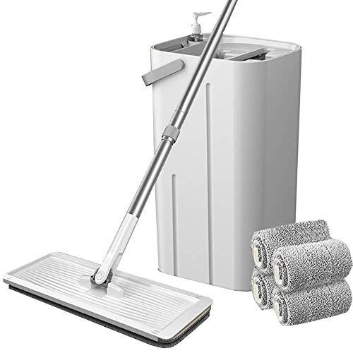 Fregona plana limpieza de uno mismo con el compartimiento, húmedo y seco limpieza del piso fregonas, reutilizable y lavable a máquina de ratón for el hogar Servicios de limpieza en todas las superfici