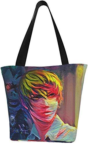 Anime Dr. Stone Senku Ishigami Bolso de la compra reutilizable bolsas de hombro bolsas para regalo de la escuela de compras, color, talla Talla única