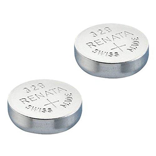 RENATA Lot de 2 Blisters de 1 Pile bouton oxyde argent X329 SR731SW