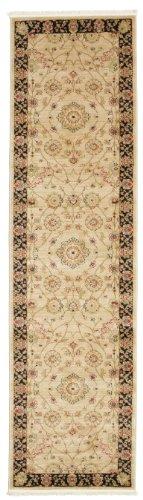 Farahan Ziegler - Beige Teppich 80x300 Orientalischer, Läufer Teppich