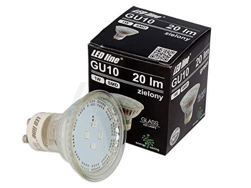 LED Line GU10 SMD 1 W lampadina 20 lumen faretto vetro faretto da incasso lampada a risparmio energetico lampadina 120° IP20 in giallo