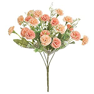 DQXY Artificial Flowers, 20 Flowers Fake Peony Silk Hydrangea Bouquet Decor Plastic Carnations Realistic Flower for Wedding Home Centerpieces Decor