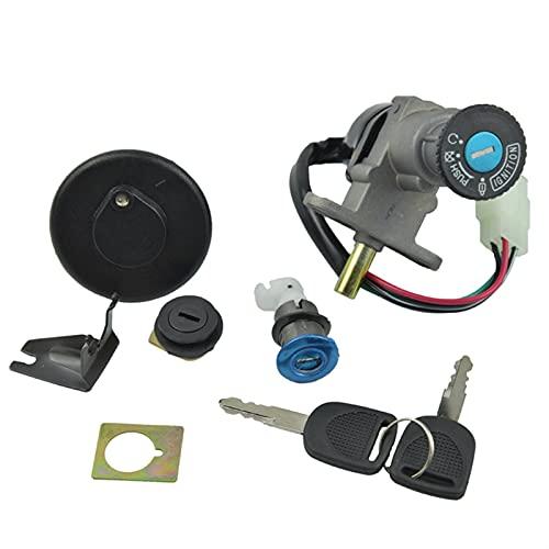 Interruptor De Encendido,Interruptor De Encendido Juego de interruptores de Llaves de Encendido de Scooter de ciclomotor Establecido para 50cc 125cc 150cc con Enchufe de 4 Clavijas