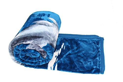 HAFIX Kuscheldecke Tagesdecke Wolldecke Überwurfdecke in 160x220cm Delphin, für wohlige Wärme auf dem Sofa & im Bett 100prozent Polyester
