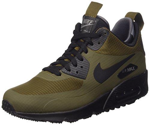 Nike Air MAX 90 Mid WNTR, Zapatillas de Running para Hombre, Verde/Marrón/Negro/Gris (Dark Loden/Black-Dark Grey), 38.5 EU