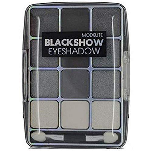 Palet oogschaduw 12 grijze kleuren