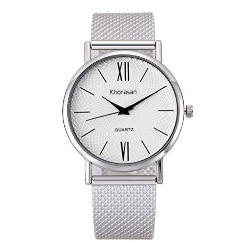 UINGKID Damen Armbanduhr Analog Quarz Herren-Kunststoffband Quarz Uhr Einfache römische Scale Watch Damenuhr