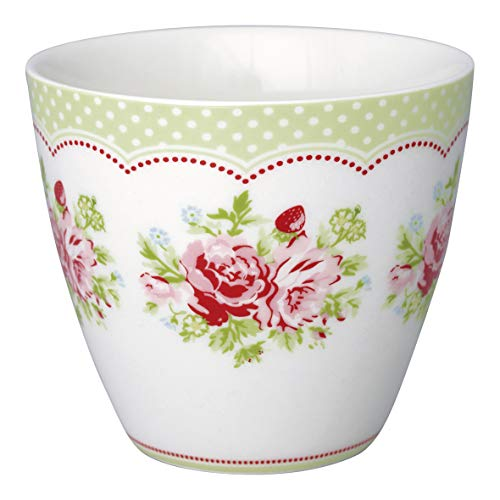 GreenGate - Latte Cup - Kaffeebecher - Becher - Mary - Blumen - Porzellan - 300 ml